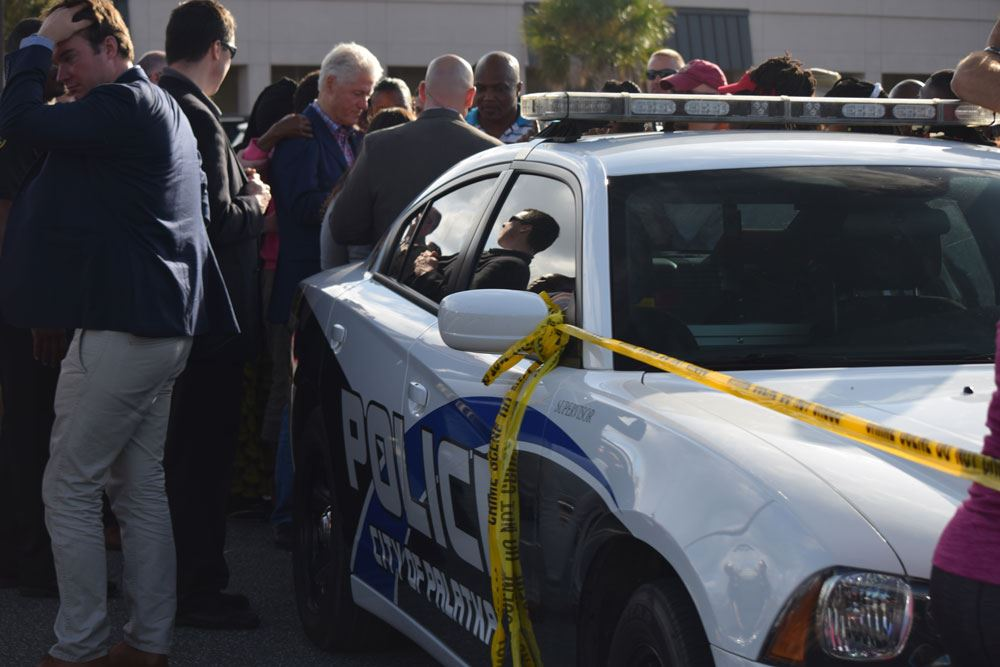 The Palatka Police Department assisted Secret Service with Bill Clinton Security.